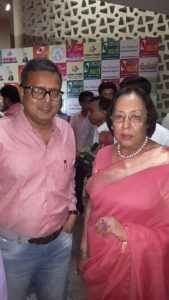 With Najma Heptulla